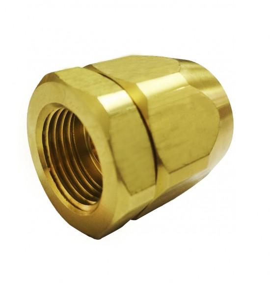 瓦斯管螺母連接器(四分內牙x5/8叉心)