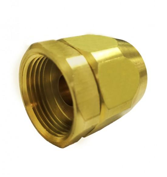 瓦斯管螺母連接器(四分內牙x3.5/8叉心)