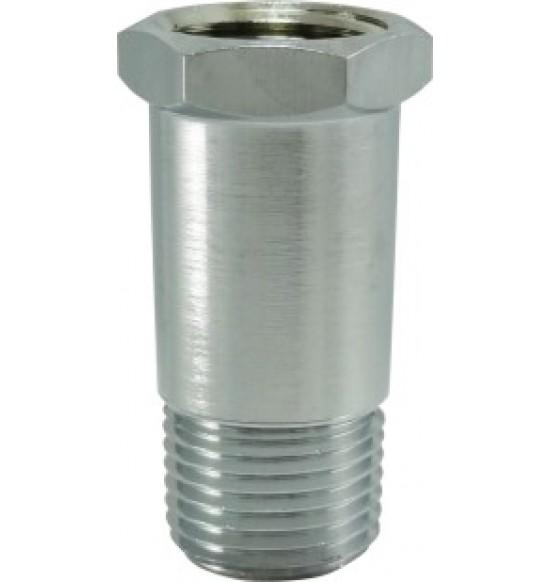 銅電鍍內外牙接頭 5cm / 四分