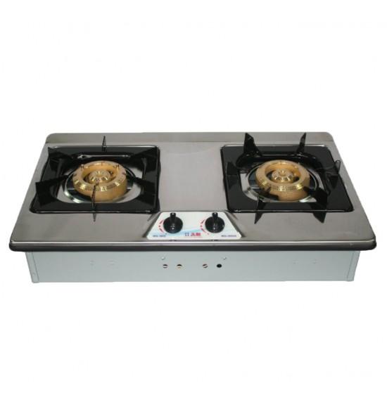 WG-3602AS雙銅不鏽鋼檯面爐(檯面爐)