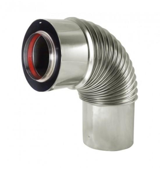Ø60/Ø100mm雙層式止漏型短彎管