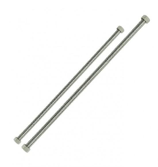 白鐵浪管/定尺(含螺母)-四分1尺(2入/裝)(另洽)