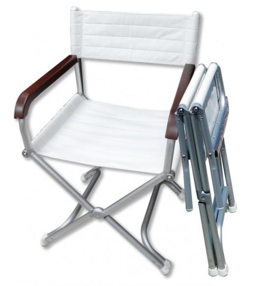 摺疊式休閒椅-遊艇白(1入)