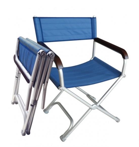 摺疊式休閒椅-海軍藍(1入)
